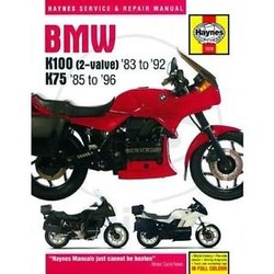 Repair Manual BMW K100 AND 75 2-VALVE MODELS 1983 - 1996
