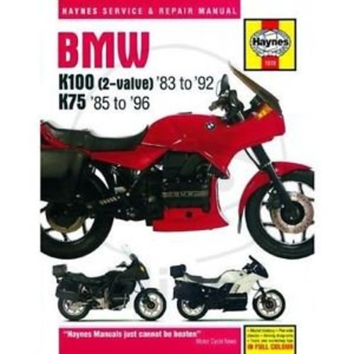 Haynes Werkplaatshandboek BMW K100 AND 75 2-VALVE MODELS 1983 - 1996