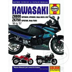 Werkplaatshandboek KAWASAKI ZX600 (GPZ600R, GPX600R, NINJA 600R & R