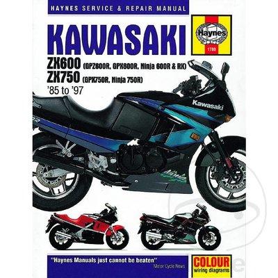 Haynes Reparatur Anleitung KAWASAKI ZX600 (GPZ600R, GPX600R, NINJA 600R & R