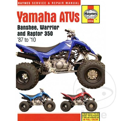 Haynes Repair Manual YAMAHA BANSHEE WARRIOR & RAPTOR ATVS 1987 - 10