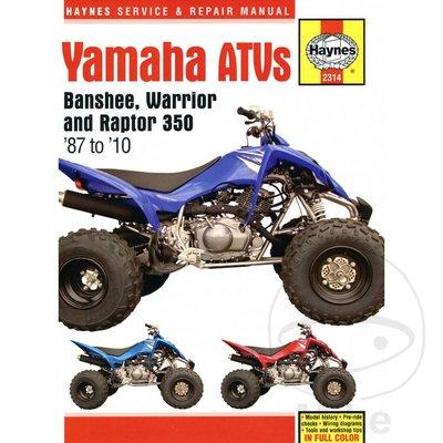 Haynes Reparatur Anleitung YAMAHA BANSHEE WARRIOR & RAPTOR ATVS 1987 - 10