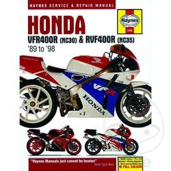 Werkplaatshandboek HONDA VFR400 (NC30) & RVF400 (NC35) V-FOURS 1989