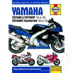 Werkplaatshandboek YAMAHA YZF750R & YZF1000R THUNDERACE 1993 - 200