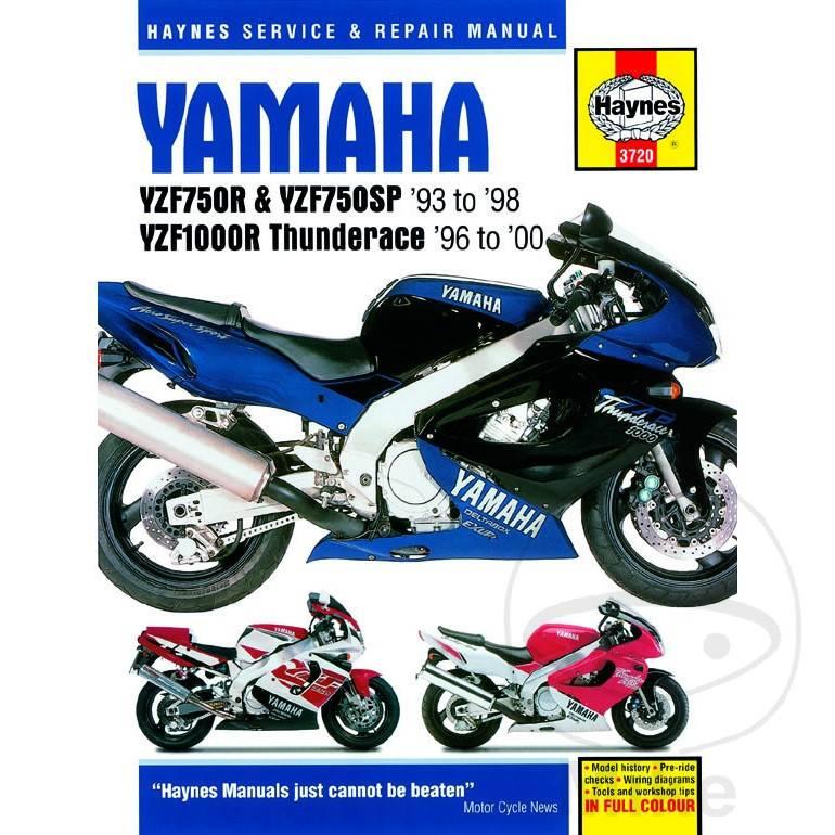 Reparatur Anleitung YAMAHA YZF750R & YZF1000R THUNDERACE ... on