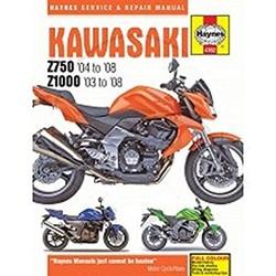 Werkplaatshandboek KAWASAKI Z750 & Z1000 2003 - 2008