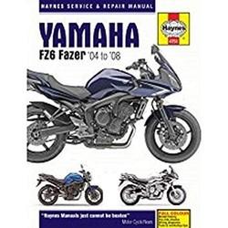 Werkplaatshandboek YAMAHA FZ6 FAZER 04 - 08