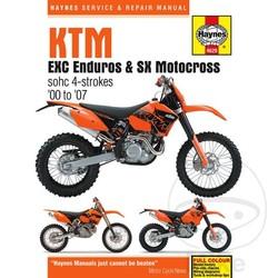 Werkplaatshandboek KTM EXC ENDURO & SX MOTOCROSS (00