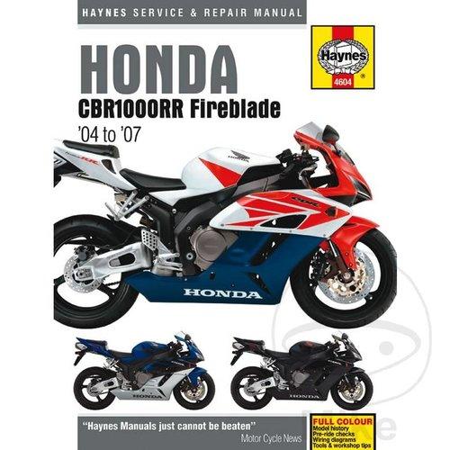 Repair Manual HONDA CBR1000RR FIREBLADE (04-06