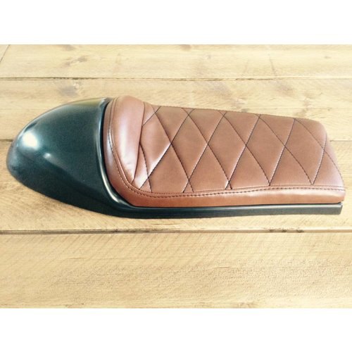 C.Racer Cafe Racer Seat Diamond Stitch Chocolat Brown Type 40