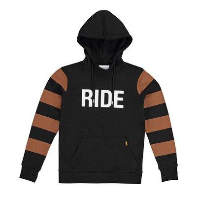 Roeg Pull à capuche Ringo noir et brun