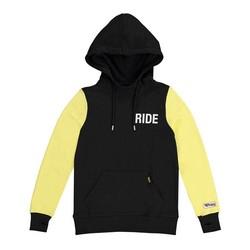 Pull à capuche noir et jaune