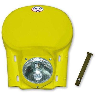 UFO Headlight vintage enduro yellow