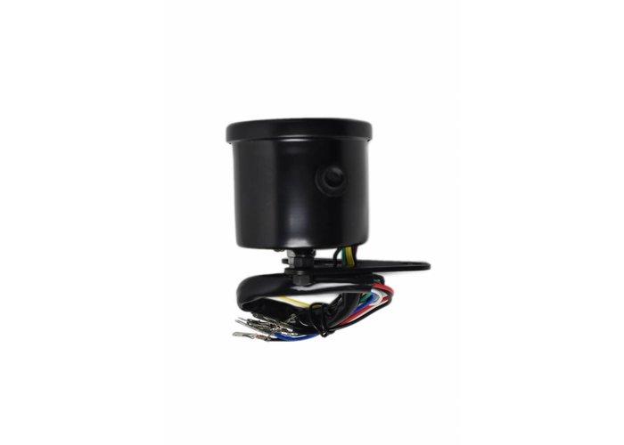 Indicateur de vitesse noir avec 4 témoins lumineux LED - Noir