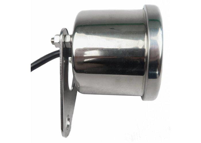 15.000 Edelstahl-Drehzahlmesser D60 mit weißes Ziffernblatt Elektronisch