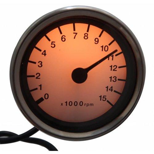15.000 RPM Elektronische Toerenteller Wit