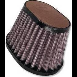 54MM Ovaal Filter Lederen Top Licht Bruin