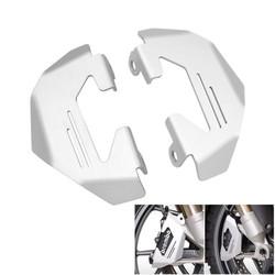 BMW R NineT vorderer Bremsenschutz silber