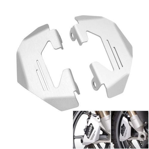 BMW R NineT voorrem beschermer zilver