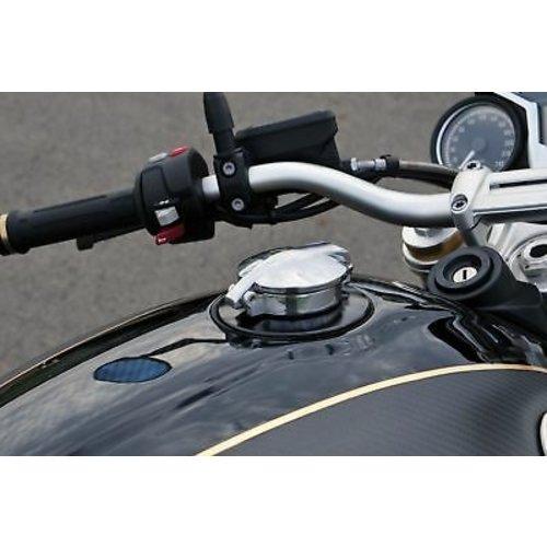 BMW R NineT Monza tankdop zwart en aluminium type 2