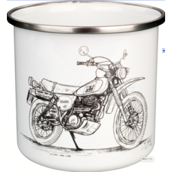 Coffee Mug Enamel XT500 Dakar Black