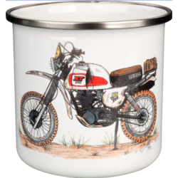 Coffee Mug Enamel XT Dakar Red