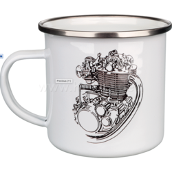 Coffee Mug Enamel XT/SR500 Engine