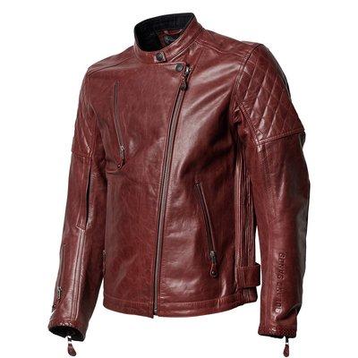 Roland Sands Leather jacket clash RS signature Oxblood