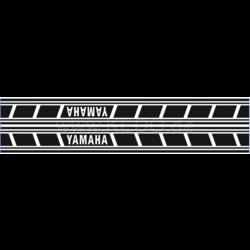 Autocollants italiques pour réservoir Yamaha Speedblock noir/transparent