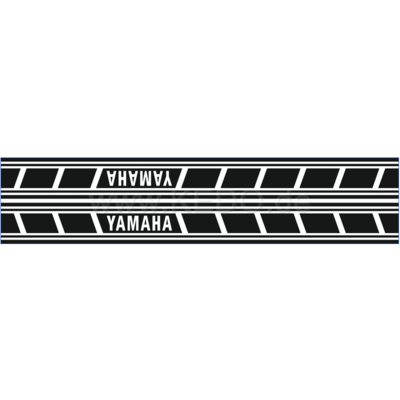 Kedo Tankstickers Yamaha Speedblock zwart/transparant cursief