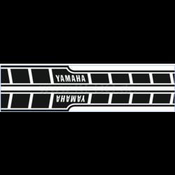 Autocollants dynamiques pour réservoir Yamaha Speedblock noir/transparent