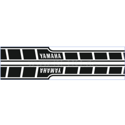 Tank Stickers Yamaha Speedblock black/transparent dynamic