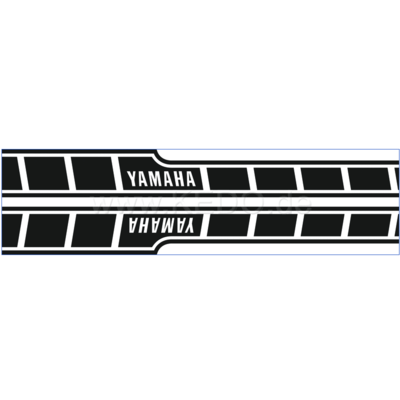 Kedo Tankstickers Yamaha Speedblock zwart/wit dynamisch