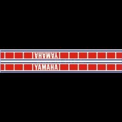 Autocollants italiques pour réservoir Yamaha Speedblock bleu/rouge