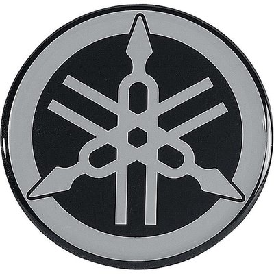 Yamaha Emblem Silber