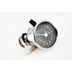 Indicateur de vitesse analogue noir/chromé