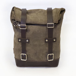 WAXED SUEDE SIDE PANNIER