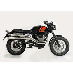 Compleet uitlaat systeem Tracker / Scrambler Moto Guzzi V7