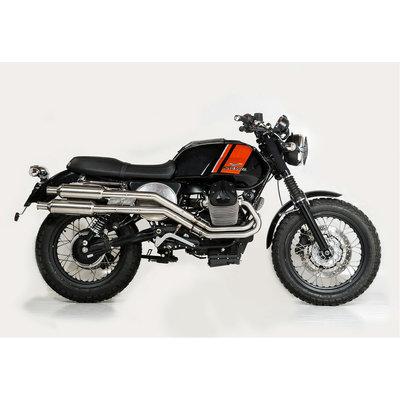 UNIT Garage Compleet uitlaat systeem Tracker / Scrambler Moto Guzzi V7