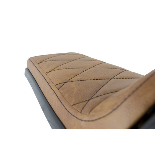 C.Racer Cafe Racer Seat Diamond Stitch Bruin Type 30