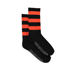 Rider socks black with orange stripes