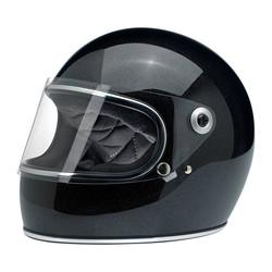 Gringo S Full Face Helmet Midnight Black Mini Flake size S