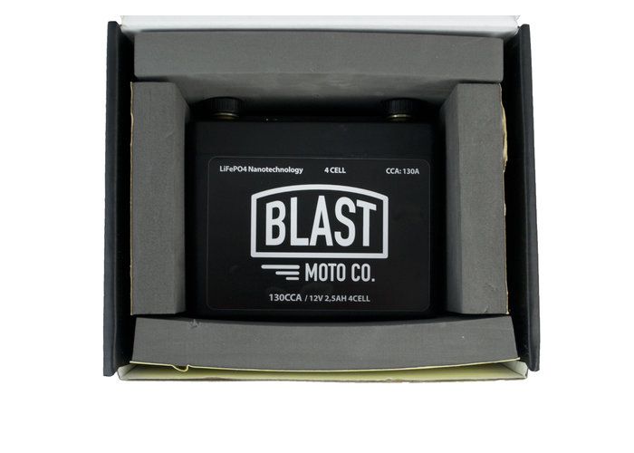 Blast Moto Co. 130CCA Lithium Battery, Small and very powerfull