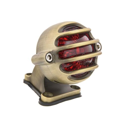 Motone Lecter Tail Light + Fender Mount Kit - Brass