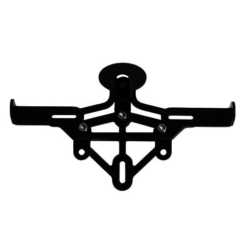Motone Miller Black Stop Tail Light and Number Plate Holder - Loom KIT