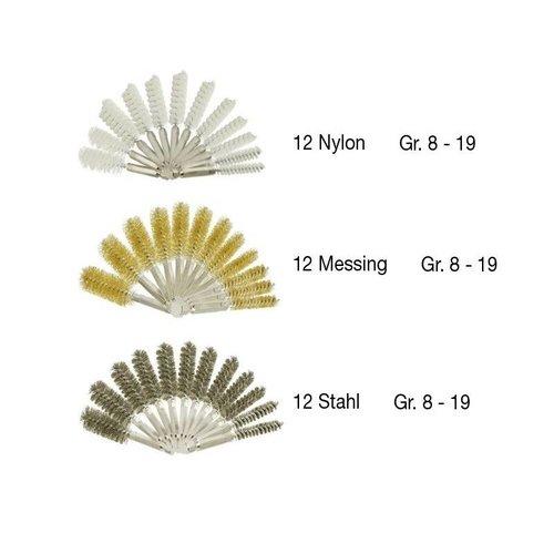 Hofftech Bürstengarnitur Nylon / Stahl / Messing 38 tlg