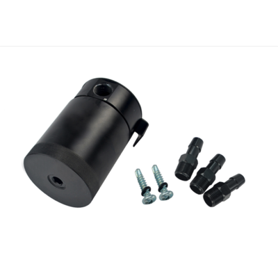 3-Port Aluminum Oil Catch Tank  Black