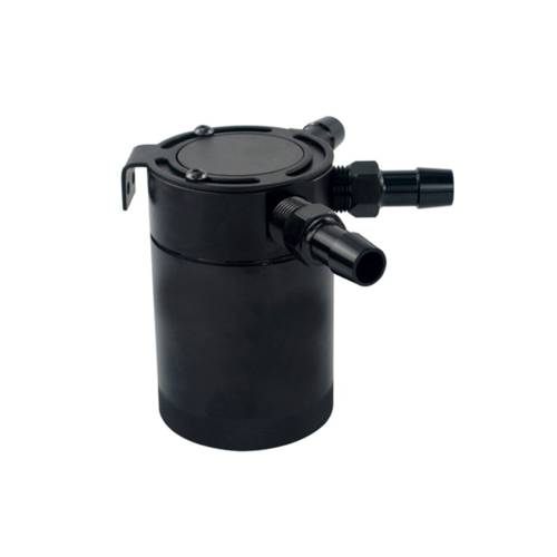 3-Port Aluminium Oil Catch Tank  Black