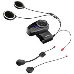 10S Bluetooth-Headset und Sprechanlage für Motorräder Dopplepack Schwarz