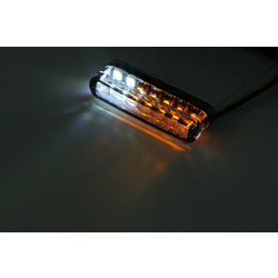 Clignotant à LED fumé Shorty avec feu de position (paire)